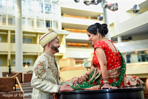 First look portrait in Princeton, NJ Indian Wedding by House of Talent Studio