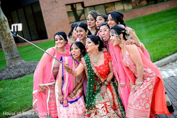Bridal party in Princeton, NJ Indian Wedding by House of Talent Studio