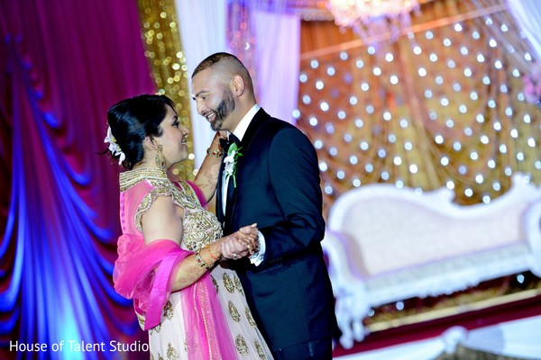 Reception portraits in Princeton, NJ Indian Wedding by House of Talent Studio