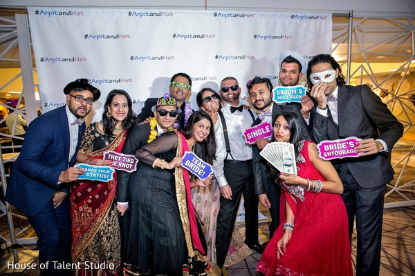 Photobooth in Princeton, NJ Indian Wedding by House of Talent Studio