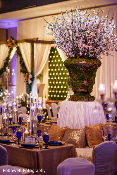 Floral & Decor in New Orleans, LA Indian Wedding by Followell Fotography