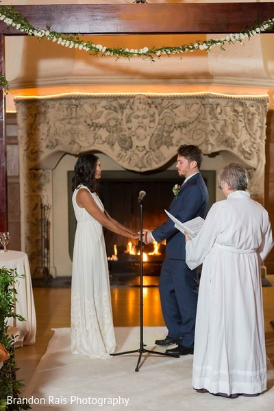 Ceremony in Detroit, MI Indian Fusion Wedding by Brandon Rais Photography