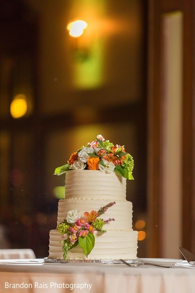 Wedding cake in Detroit, MI Indian Fusion Wedding by Brandon Rais Photography