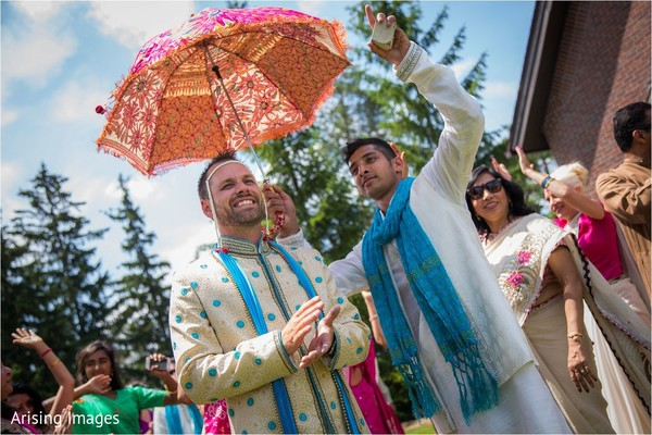Baraat in Grand Blanc, MI Indian Fusion Wedding by Arising Images