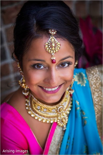 Bridal portrait in Grand Blanc, MI Indian Fusion Wedding by Arising Images