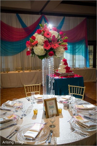 Centerpiece in Grand Blanc, MI Indian Fusion Wedding by Arising Images