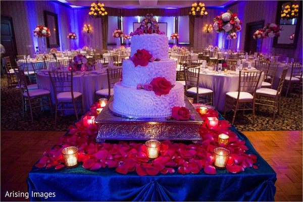 Wedding cake in Grand Blanc, MI Indian Fusion Wedding by Arising Images
