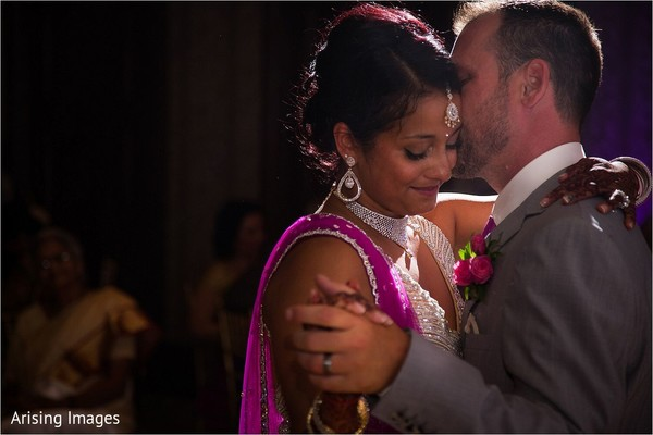 First dance in Grand Blanc, MI Indian Fusion Wedding by Arising Images