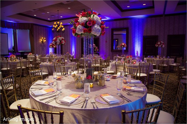 Tablescapes in Grand Blanc, MI Indian Fusion Wedding by Arising Images