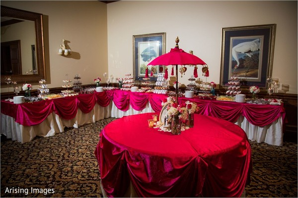 Dessert table in Grand Blanc, MI Indian Fusion Wedding by Arising Images