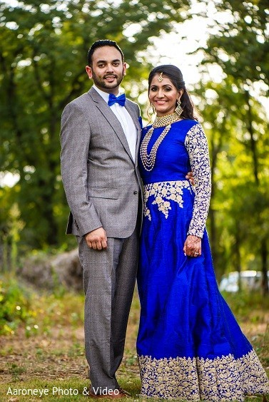 Reception Portrait in Dallas, TX Indian Wedding by Aaroneye Photo & Video