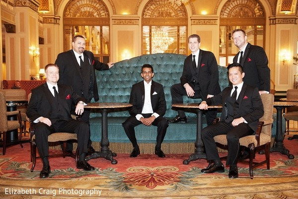 Groomsmen in Pittsburgh, PA Indian Fusion Wedding by Elizabeth Craig Photography
