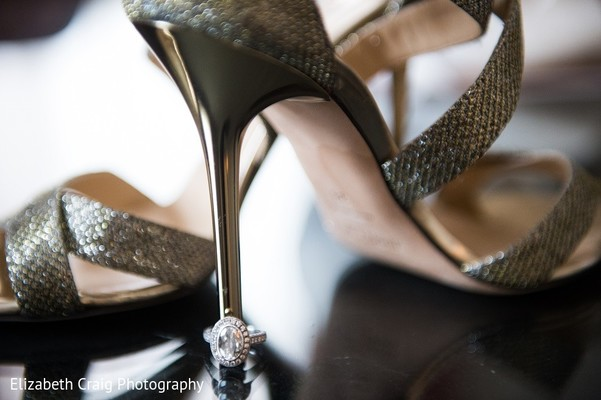 Bridal Jewelry & Shoes in Pittsburgh, PA Indian Fusion Wedding by Elizabeth Craig Photography