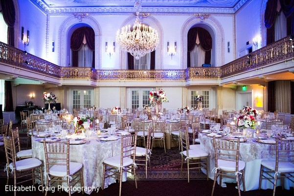 Venue & Lighting in Pittsburgh, PA Indian Fusion Wedding by Elizabeth Craig Photography