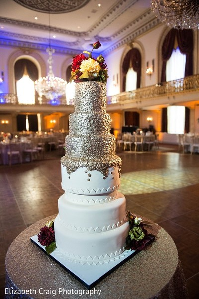 Wedding Cake in Pittsburgh, PA Indian Fusion Wedding by Elizabeth Craig Photography
