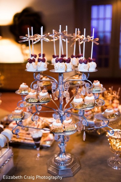 Dessert Table in Pittsburgh, PA Indian Fusion Wedding by Elizabeth Craig Photography