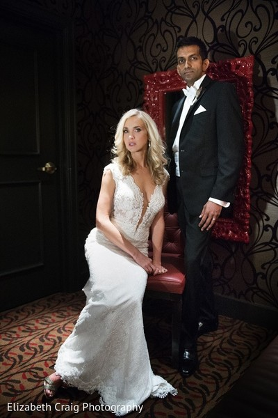 Reception Portrait in Pittsburgh, PA Indian Fusion Wedding by Elizabeth Craig Photography