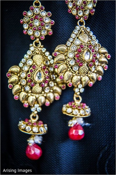 Earrings in Grand Blanc, MI Indian Fusion Wedding by Arising Images