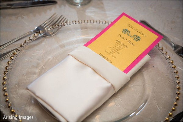 Indian wedding menu in Grand Blanc, MI Indian Fusion Wedding by Arising Images