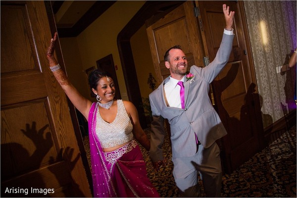 Reception in Grand Blanc, MI Indian Fusion Wedding by Arising Images
