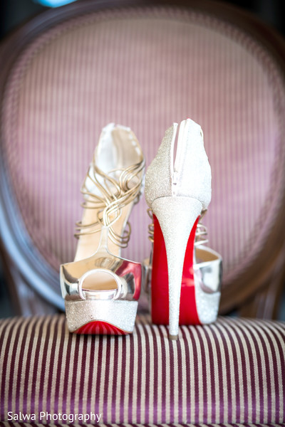 Bridal heels in Long Island, NY Indian Fusion Wedding by Salwa Photography