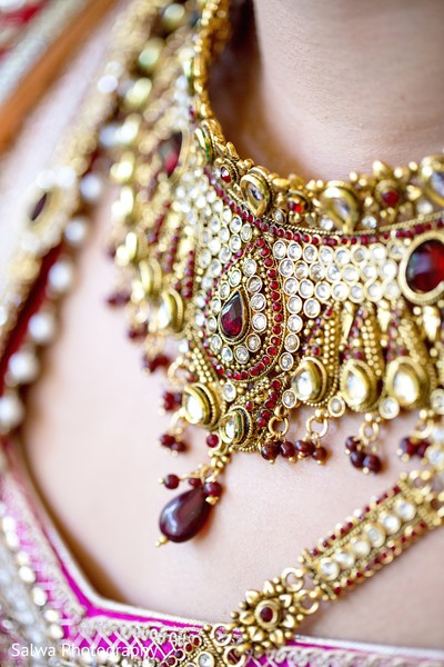 Necklace in Long Island, NY Indian Fusion Wedding by Salwa Photography