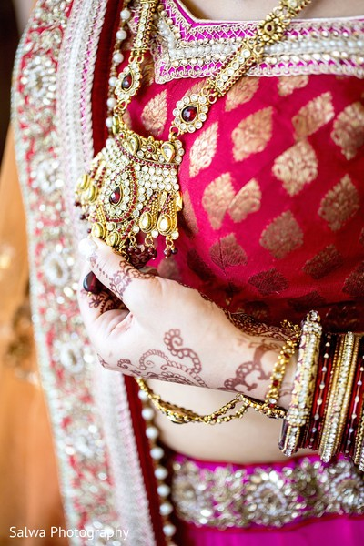 Jewelry in Long Island, NY Indian Fusion Wedding by Salwa Photography