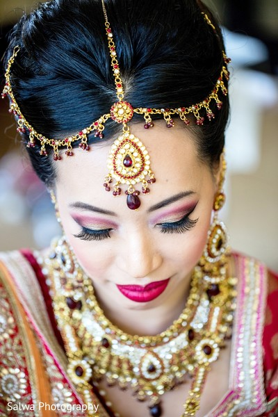 Tikka and makeup in Long Island, NY Indian Fusion Wedding by Salwa Photography