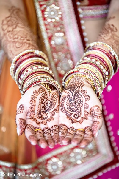 Mehndi and churis in Long Island, NY Indian Fusion Wedding by Salwa Photography
