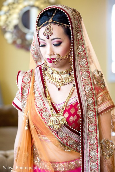 Bridal jewelry in Long Island, NY Indian Fusion Wedding by Salwa Photography