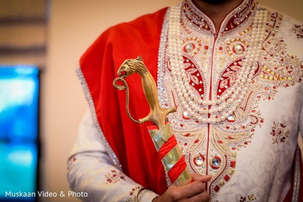 Groom Details in Boston, MA Hindu-Sikh Wedding by Muskaan Video & Photo