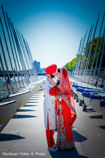 First Look in Boston, MA Hindu-Sikh Wedding by Muskaan Video & Photo