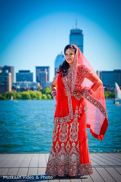Bridal Fashion in Boston, MA Hindu-Sikh Wedding by Muskaan Video & Photo