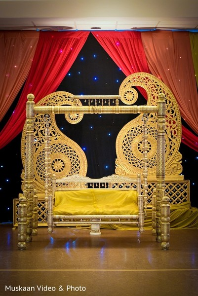 Sangeet Decor in Boston, MA Hindu-Sikh Wedding by Muskaan Video & Photo