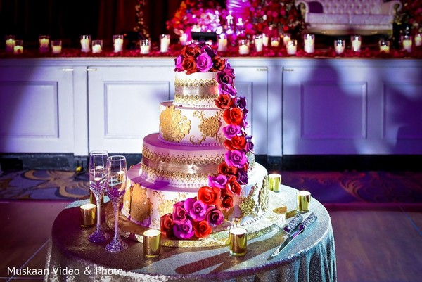 Wedding Cake in Boston, MA Hindu-Sikh Wedding by Muskaan Video & Photo