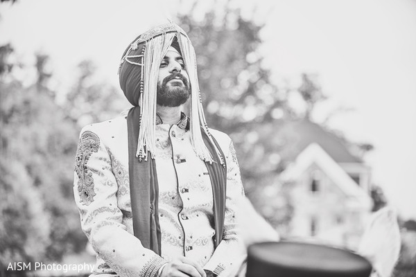 Baraat in Rockville, MD Sikh Wedding by AISM Photography