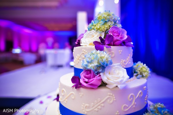 Wedding cake in Rockville, MD Sikh Wedding by AISM Photography