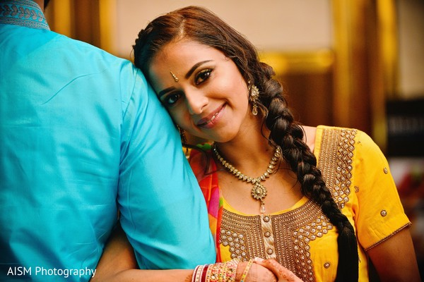 Sangeet portrait in Rockville, MD Sikh Wedding by AISM Photography