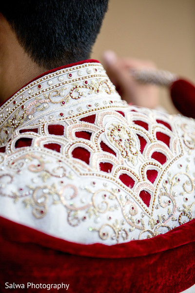 Groom Getting Ready in Long Island, NY Indian Fusion Wedding by Salwa Photography