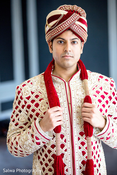 Groom Fashion in Long Island, NY Indian Fusion Wedding by Salwa Photography