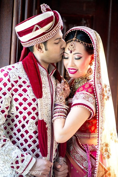 First Look in Long Island, NY Indian Fusion Wedding by Salwa Photography