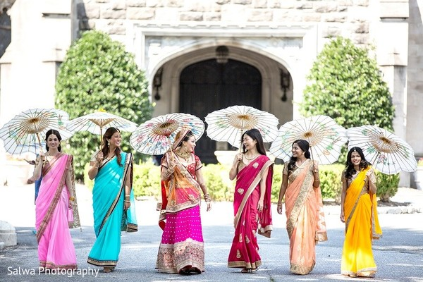 Bridal Party in Long Island, NY Indian Fusion Wedding by Salwa Photography
