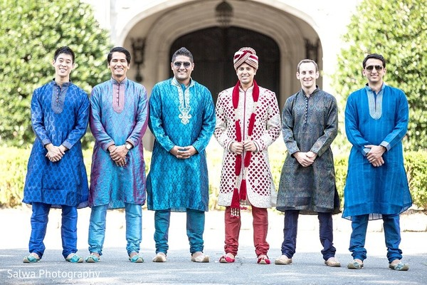 Groomsmen in Long Island, NY Indian Fusion Wedding by Salwa Photography
