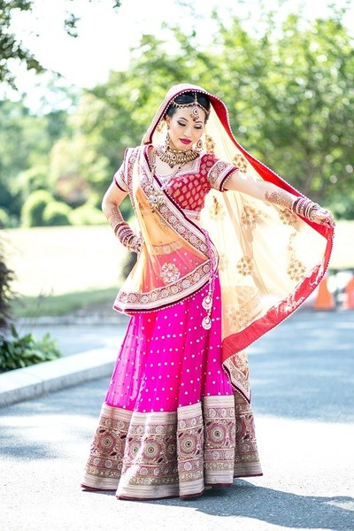 Bridal Fashion in Long Island, NY Indian Fusion Wedding by Salwa Photography