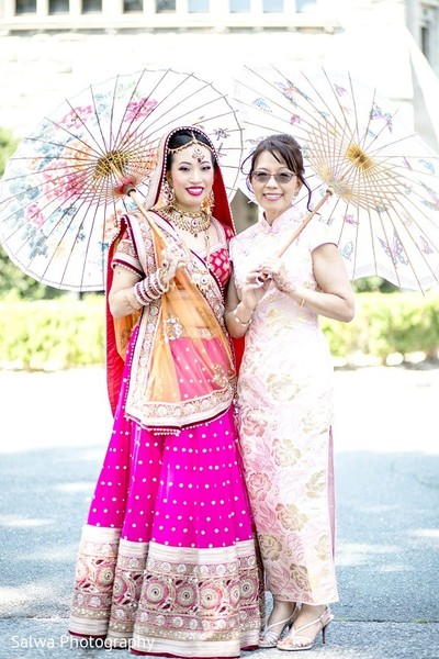 Bridal Portrait in Long Island, NY Indian Fusion Wedding by Salwa Photography