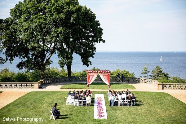 Ceremony Decor in Long Island, NY Indian Fusion Wedding by Salwa Photography