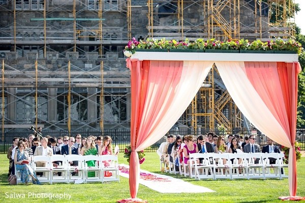 Outdoor Wedding in Long Island, NY Indian Fusion Wedding by Salwa Photography