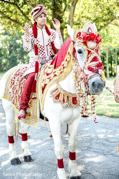 Baraat in Long Island, NY Indian Fusion Wedding by Salwa Photography