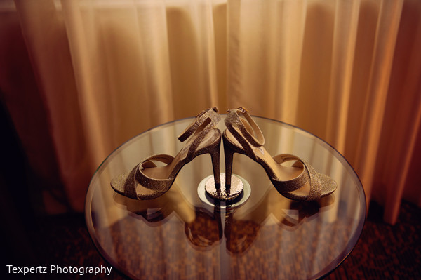 Bridal heels in Dallas, TX Indian Fusion Wedding by Texpertz Photography