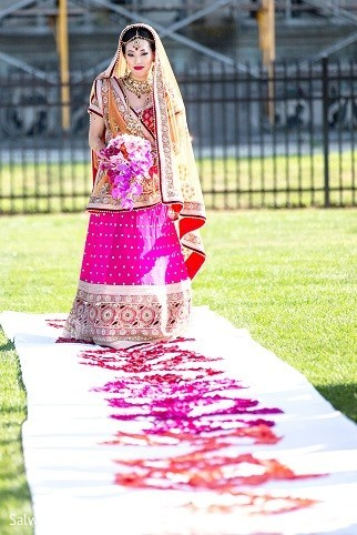 Ceremony in Long Island, NY Indian Fusion Wedding by Salwa Photography